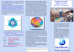 COLEGIO EL PLANET Colegio solicitante Bachillerato