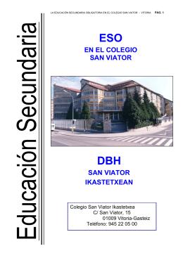 Folleto Informativo sobre la ESO 2003