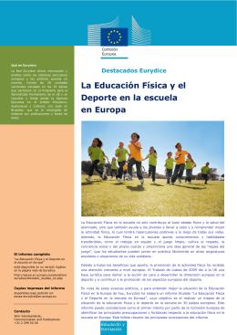 La Educación Física y el Deporte en la escuela en Europa