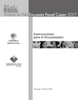 Instrucciones para el Encuestador Encuesta Panel CASEN 2007
