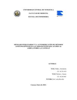 Tesis EE2013 N889. MENSAJES PUBLICIARIOS Y LA