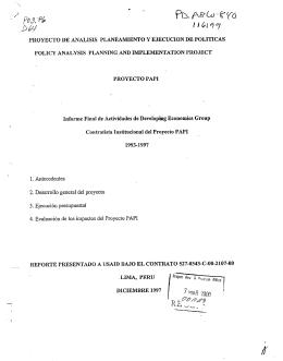 PROYECTO DE ANALISIS PLANEAMIENTO Y EJECUCION DE
