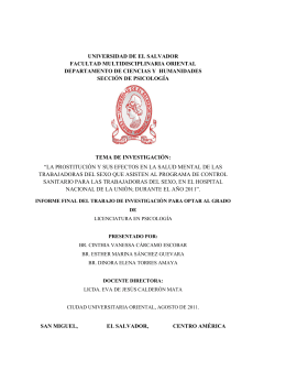 universidad de el salvador facultad multidisciplinaria oriental