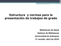 Normas Vancouver - Universidad de Antioquia
