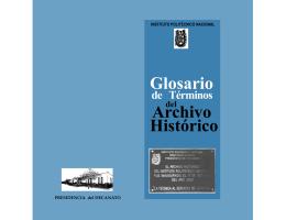 Glosario de Términos del Archivo Histórico - Decanato