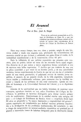 El Arancel - Biblioteca de la Asociación de Escribanos del Uruguay