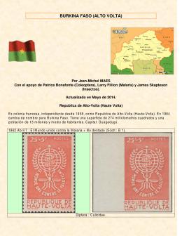 Estampillas con insectos de Burkina Faso