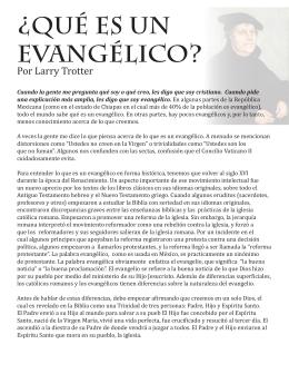 ¿Qué es un evangélico?