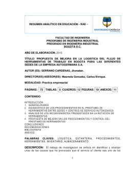 RAE No - Universidad Católica de Colombia