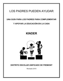 LOS PADRES PUEDEN AYUDAR KINDER