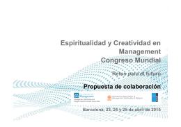 Espiritualidad y Creatividad en Management Congreso
