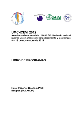 WBU-ICEVI Joint Event - Programme Book
