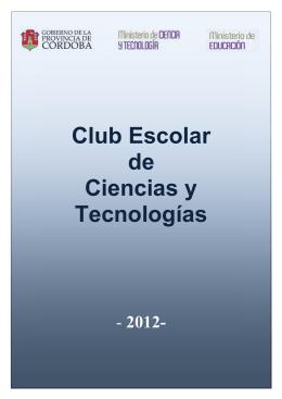¿Qué es un club de Ciencias - Subsecretaría de Promoción de
