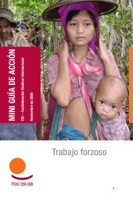 Trabajo Forzoso - Mini guía de acción para los sindicatos  pdf