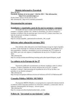 Boletín Eurodesk_Mayo_2001