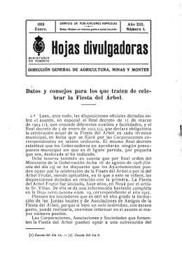 01/1919 - Ministerio de Agricultura, Alimentación y Medio Ambiente