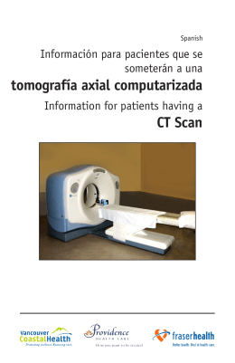 Information for patients having a CT Scan