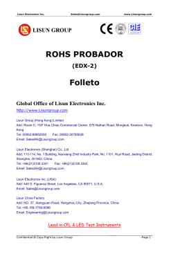 ROHS PROBADOR Folleto - Lisun electrónica Inc.