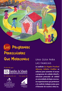 Los Programas Preescolares Que Merecemos