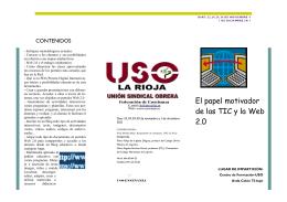 """""""El papel motivador de las TIC y la Web 2.0""""."""