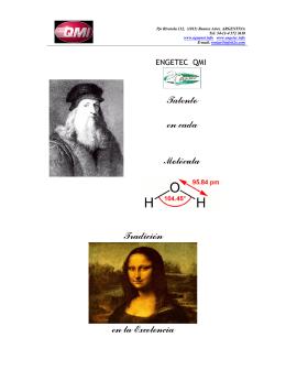 Talento en cada Molécula Tradición en la - qmi.com.ar