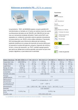 Catalogo Producto - Balanzas Registradoras Madrid