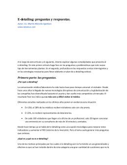 E-detailing, preguntas y respuestas (parte I)