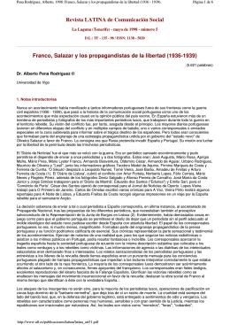 Revista LATINA de Comunicación Social Franco, Salazar y los