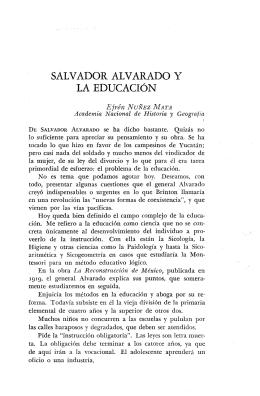 SALVADOR ALVARADO Y LA EDUCACIÓN