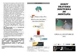XXXIV TRAVESIA NOCTURNA DE MONTAÑA