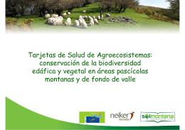 Tarjetas de Salud de Agroecosistemas: conservación