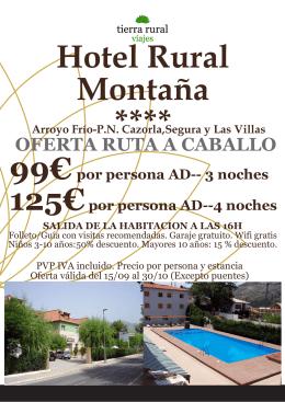 Hotel Rural Montaña ****