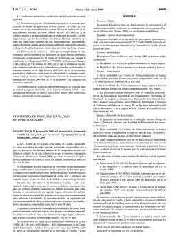 Convocatoria Cursos de Idiomas para Jóvenes 2009.