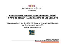 Investigación sobre el uso de la bicicleta Sep-06