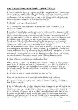 Bilag A: Interview med Martin Tønner, 11.04.2012, via Skype