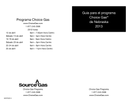 Programa Choice Gas Guía para el programa Choice