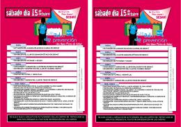 DE 10.00 A 14.00 H. CIRCUITO DE ACTIVIDADES EN LAS