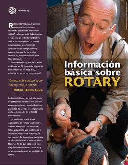 Informacion Basica de Rotary