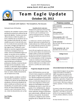Team Eagle Update October 30, 2012