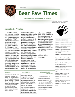 Bear Paw Times - Narcoossee Middle