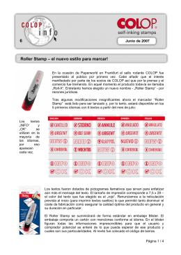 6 Roller Stamp – el nuevo estilo para marcar!