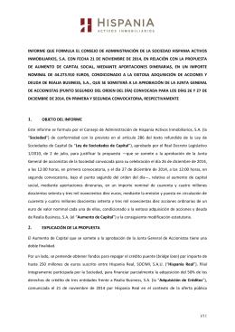 INFORME QUE FORMULA EL CONSEJO DE ADMINISTRACIÓN