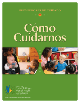 proveedores de cuidado - Center for Early Childhood Mental Health