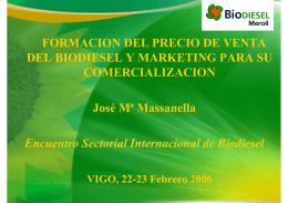 FORMACION DEL PRECIO DE VENTA DEL BIODIESEL Y