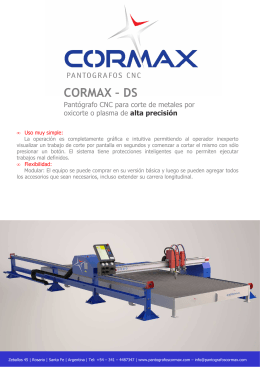 Folleto Cormax DS