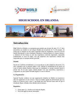 Introducción HIGH SCHOOL EN IRLANDA