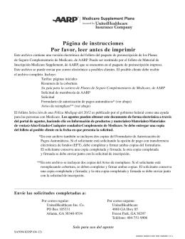 Plan A - UnitedHealthcare MedicareRx for Groups (PDP)