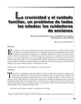 Caretakers for the elderly - Universidad Nacional de Colombia