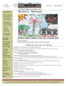 Boletín Mensual - Secretaría de Relaciones Exteriores
