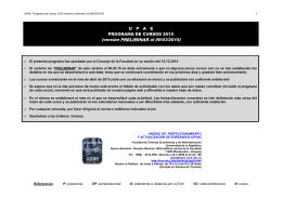 Programa anual 2015 PRELIMINAR versión 2015-03
